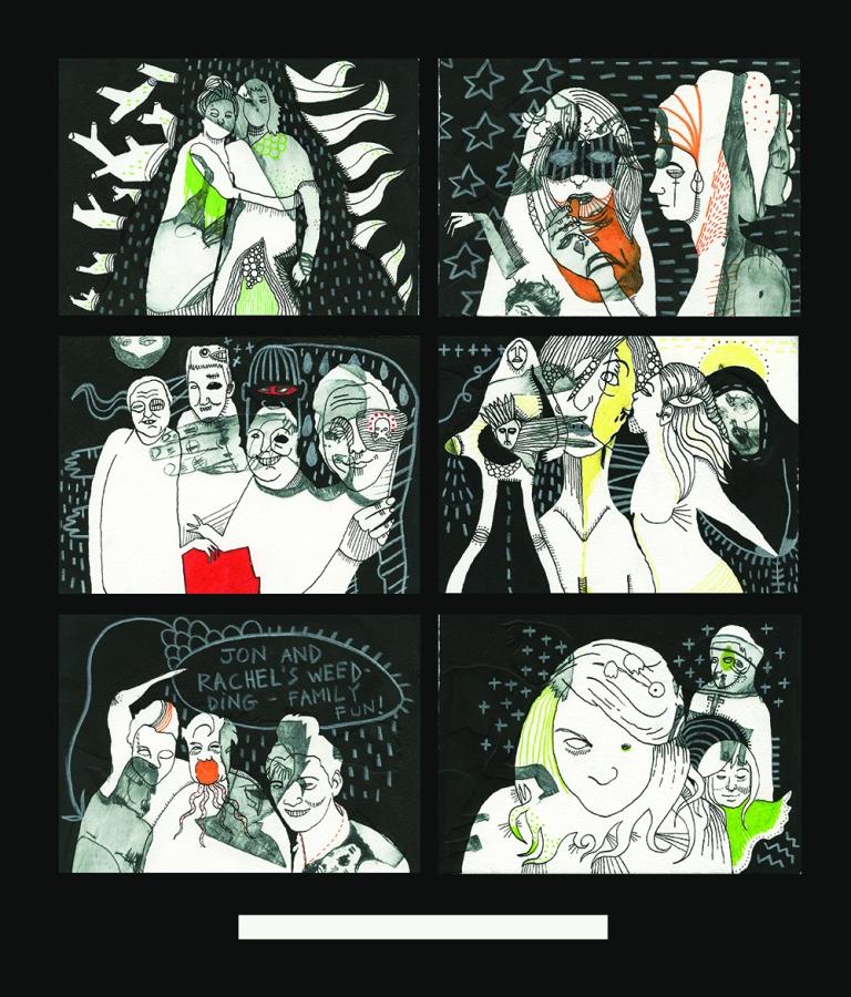 Samantha's albums - technique mixte sur gravures rehaussées sur papier Arches- 2014 (4)