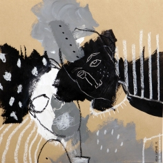who is Samantha- technique mixte sur Kraft- 32,5x32,5 - 2015 (3)